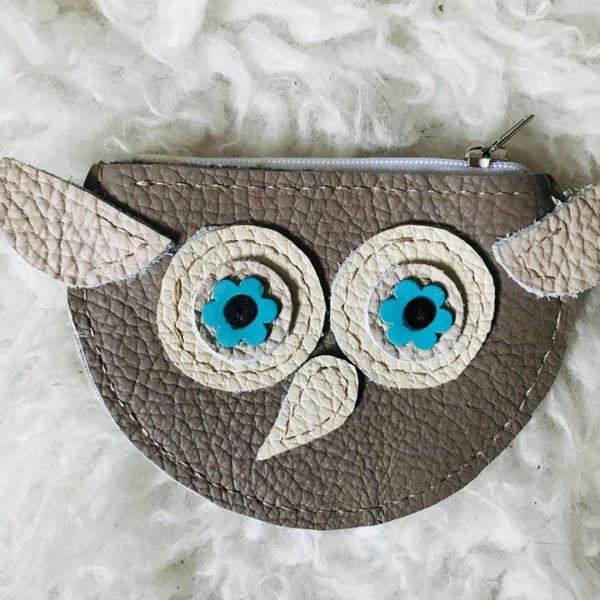 kék bagoly pénztárca