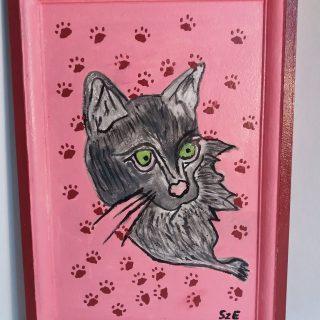 Macskás fali kép