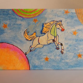 Bolygóközi lovas kép